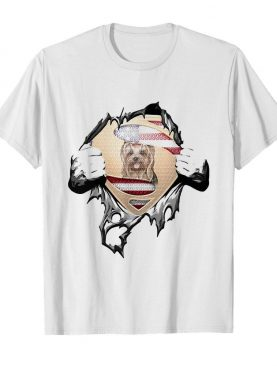 Blood Insides Superman Yorkshire Terrier American Flag Independence Day shirt