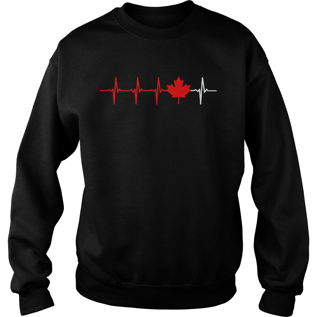 Canadian Heartbeat Maple Leaf  Sweatshirt