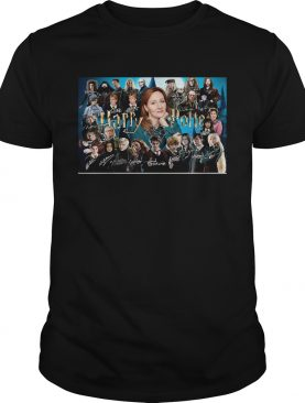 Harry potter movie characters signatures shirt