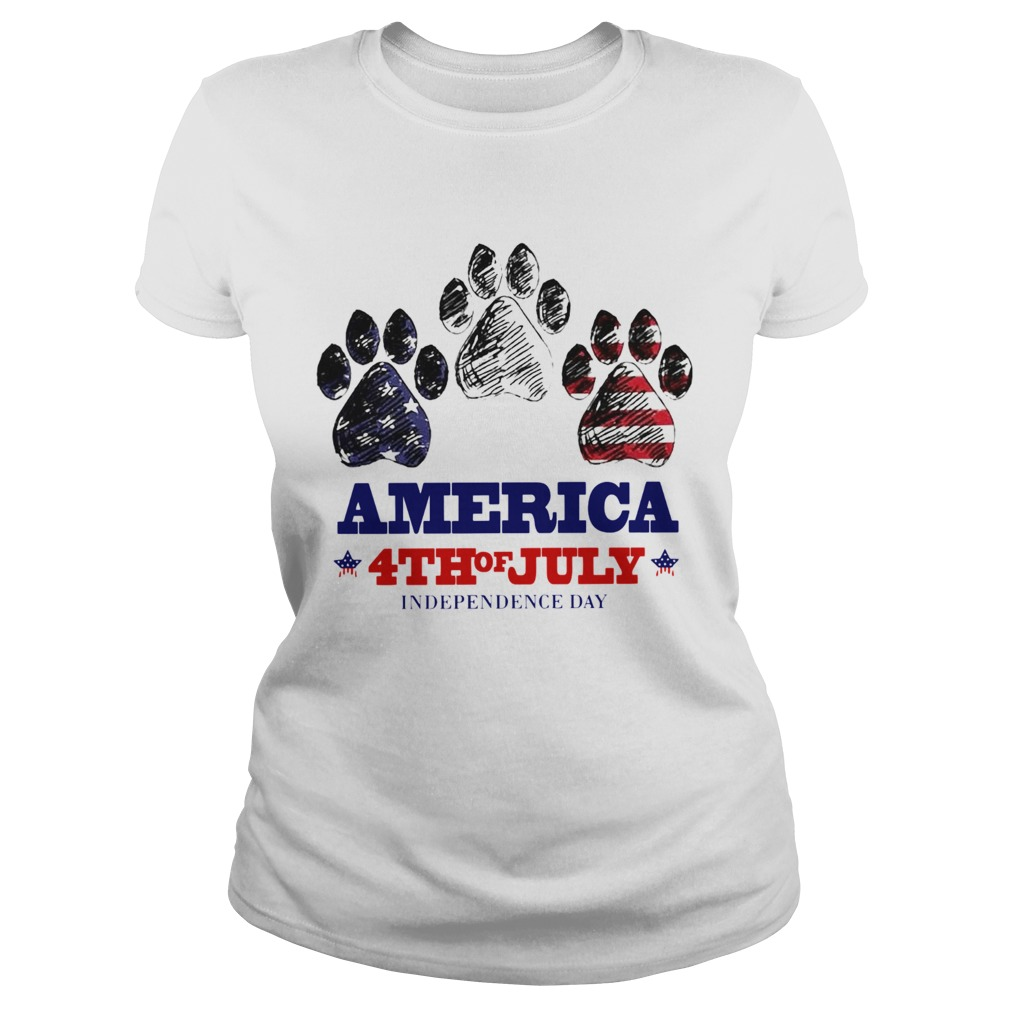 Paw Dog America 4th Of July Independence Day  Classic Ladies