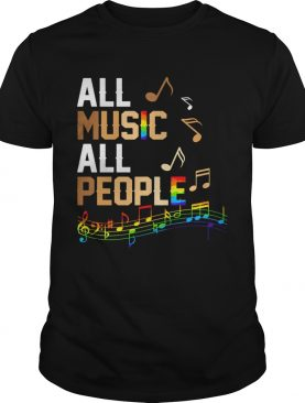 All Music All People LGBT shirt