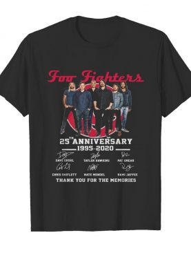 Foo Fighters 25th Anniversary 1994-2019 Signatures shirt