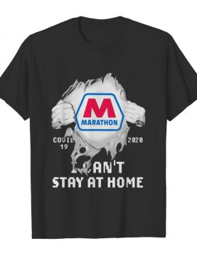 Blood insides marathon covid-19 2020 i can't stay at home shirt