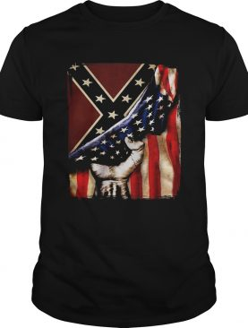 Flag american and dixieland shirt