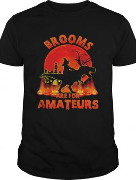 Witch Riding Dinosaurs Brooms Are For Amateurs Halloween shirt
