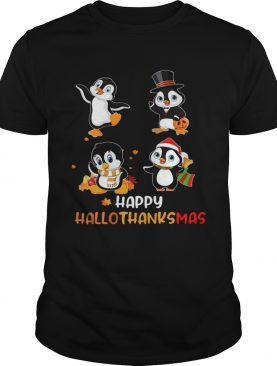 Penguin Happy Hallothanksmas shirt