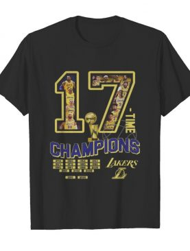 17 nba finals champions los angeles lakers shirt