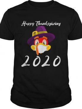 Happy thanksgiving 2020 turkey wearing mask shirt