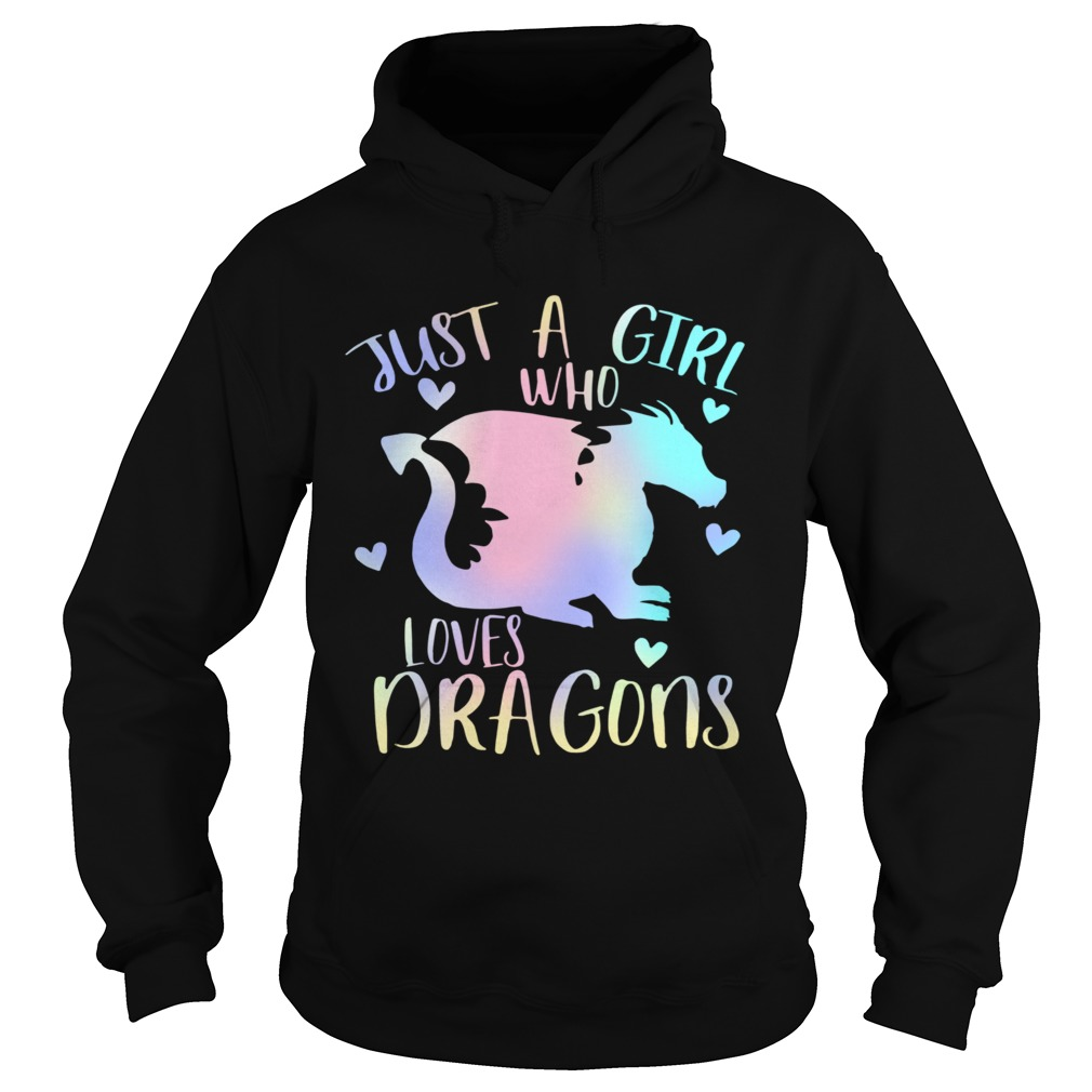 Just a Girl Who Loves Dragons Cute Dragon Teen Girls  Hoodie
