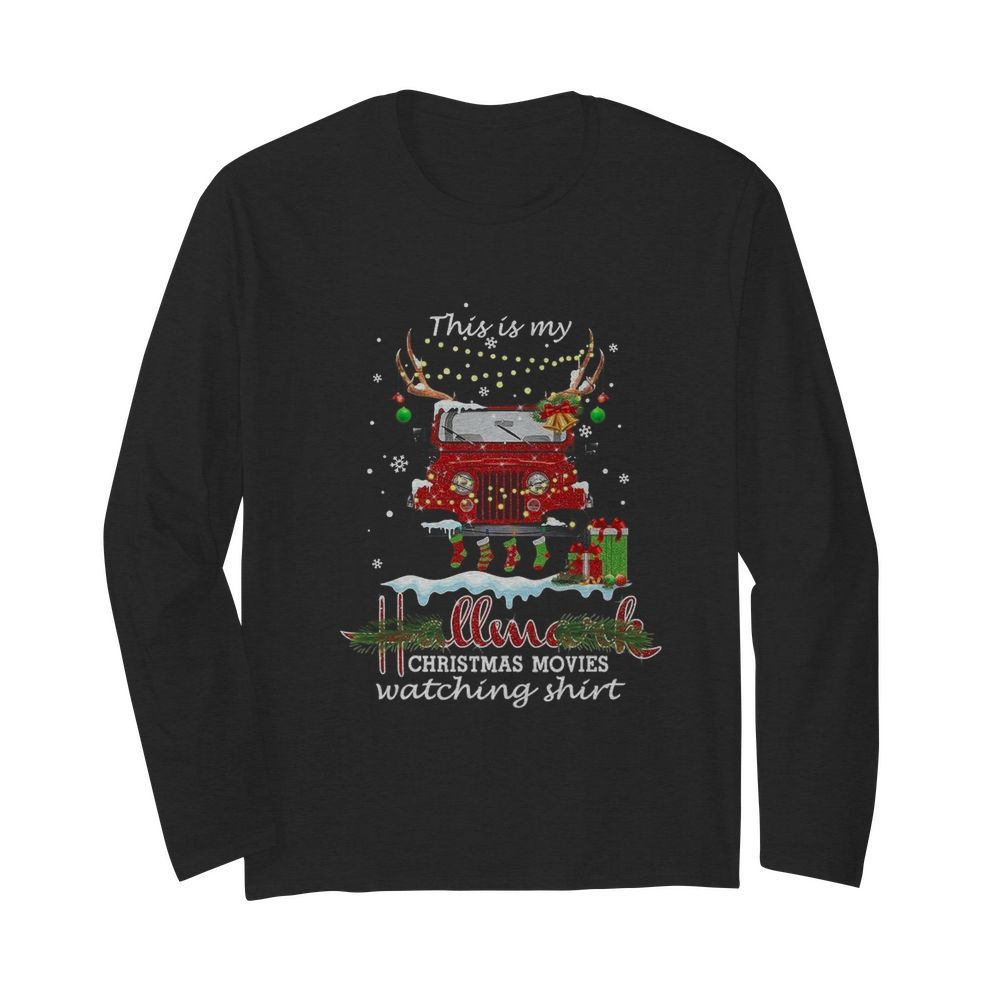 This Is My Hallmark Christmas Movies Watching  Long Sleeved T-shirt