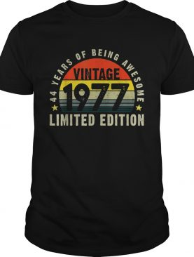 Vintage 1977 44th Bday 44 Years Old Shirt