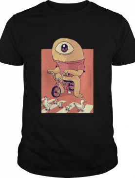 Alien Cycologist Watching Chickens shirt