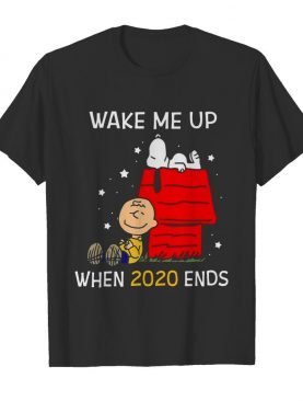 Charlie Brown And Snoopy Wake Me Up When 2020 Ends shirt