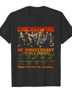 Chicago Fire 08th Anniversary 2012-2020 Signatures Thank You For The Memories shirt