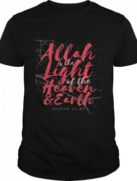 Allah is the Light of the Heaven & Earth Quran 2435 Langarm shirt
